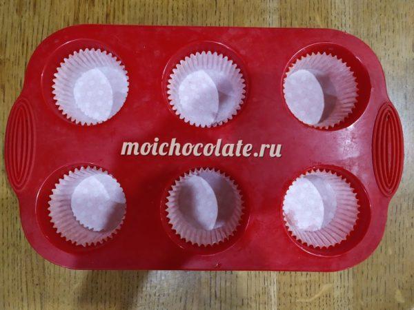 Шоколадно творожные маффины