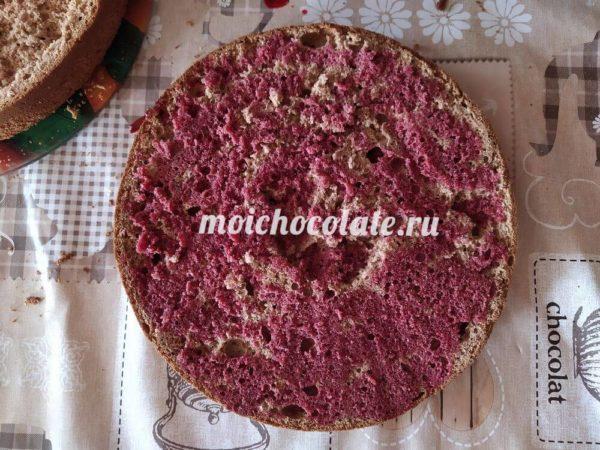 Пирог с вишней и с шоколадом