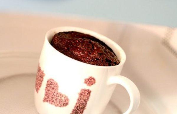 Шоколадный пирог в микроволновке за 5 минут