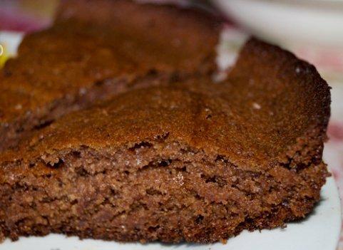 Шоколадно сметанный торт
