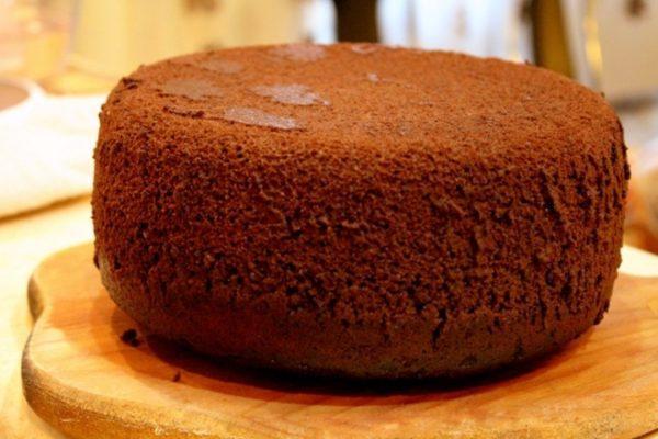 Бисквит шоколадно шифоновый